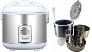 Oyama CFS-F12W 7 Cup Stainless Steel Rice Cooker