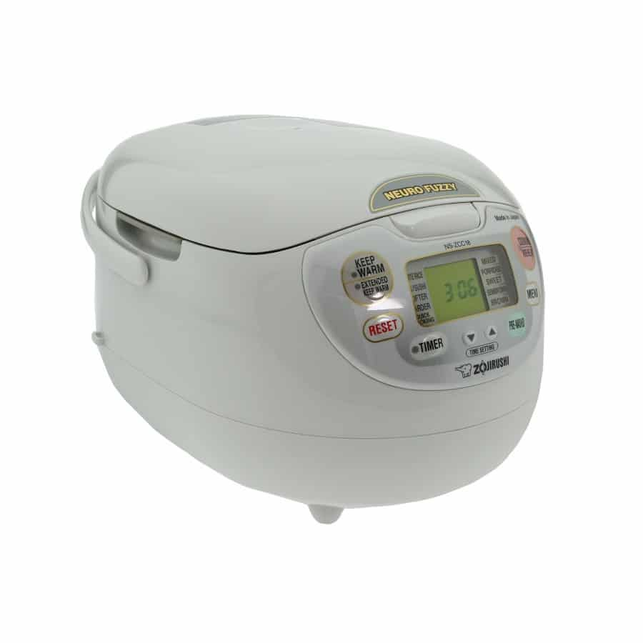 Zojirushi-NS-ZCC18 is the rice cooker that works on neuro fuzzy technology.