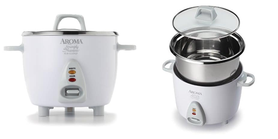 aroma simply stainless steel pot rice cooker 3 cups raw rice amazing and awesome